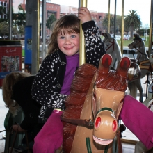 At the carousel at the waterfront - 14 October 2013 in Geelong